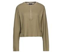 Pullover aus Einer Baumwollmischung in Waffelstrick