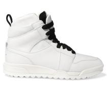 Korban Mesh-paneled Leather High-top Sneakers Weiß