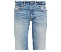 Boy Straight Jeansshorts in ausgewaschener Optik