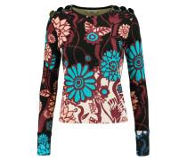 Bess Floral-print Silk-blend Bouclé-knit Sweater Mehrfarbig