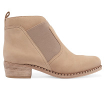 Nubuck Ankle Boots Beige