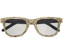 D-frame Glittered Acetate Sunglasses Gold Size --