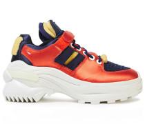 Cutout Satin Sneakers