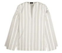 Denver striped cotton and silk-blend blouse