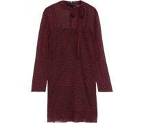 Kleid aus Chiffon mit Leopardenprint und Schluppe