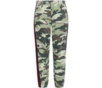 The No Zip Misfit Cropped Printed Cotton-blend Tapered Pants