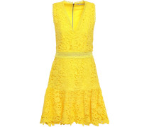 Marleen Flared Guipure Lace Mini Dress