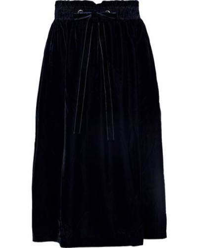 Gart Velvet Midi Skirt Midnight Blue