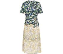 Floarl-print Silk Crepe De Chine Dress