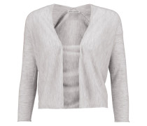 Cropped Cashmere Cardigan Grau