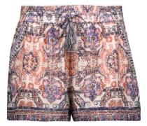 Nami printed silk crepe de chine shorts