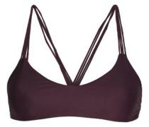 Stretch-knit bikini top