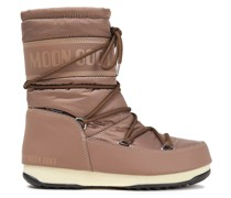 Monogram-trimmed Lace-up Shell Snow Boots