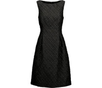 Betsy pleated wool-blend cloqué dress