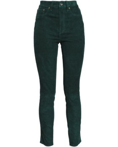 High-rise Skinny Jeans Forest Green  8