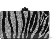Jean Zebra glittered acrylic box clutch