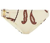 Madagascar Tief Sitzendes Bikini-höschen aus Stretch-piqué mit Print