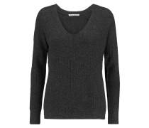 Ribbed Cashmere Sweater Dunkelgrau