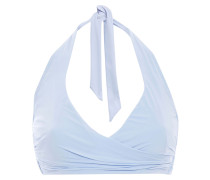 Body Wrap-effect Halterneck Bikini Top