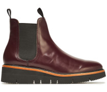 Woman Taryn Glossed-leather Ankle Boots Burgundy