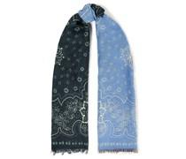 Bedruckter Schal aus Gaze