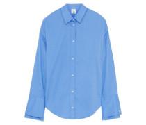 Lucille cotton-blend poplin shirt