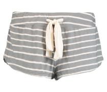 Striped Jersey Pajama Shorts Graugrün