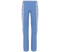 Pyjama-hose aus Jersey aus Einer Gerippten Modalmischung mit Einsätzen aus Schnurgebundener Spitze