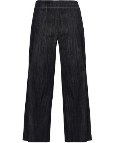 Cropped Wide-leg Jeans Dark Denim