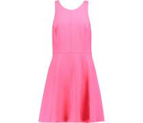 Raggy Flared Matelass&eacute Mini Dress Pink