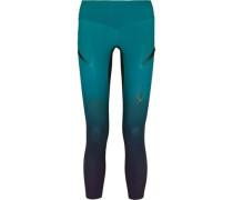 Rebel mesh-paneled stretch-jersey leggings