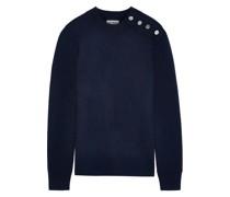 Pullover aus Wolle mit Knopfdetail