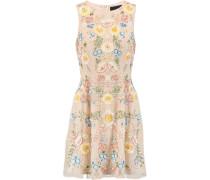 China Rose Embellished Chiffon Mini Dress Puder