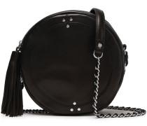Tassel-trimmed Leather Shoulder Bag
