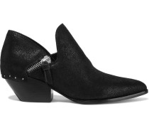 Haile2 Studded Metallic Suede Ankle Boots