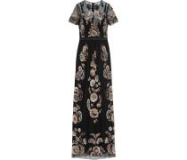Sequin-embellished Tulle Gown Schwarz