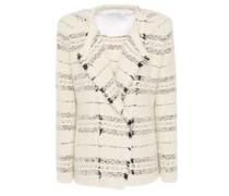 Nine Frayed Bouclé-tweed Jacket