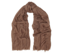 Crinkled Cashmere And Silk-blend Scarf Champignon