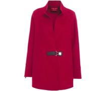 Leather-trimmed Cashmere-felt Jacket