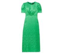 Bianca Silk-satin Jacquard Midi Dress