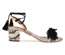 Wild Things 50 Suede Fringed And Elaphe Sandals