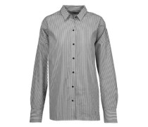 Chirley oversized striped cotton-poplin shirt