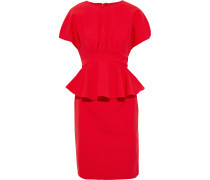 Gathered Cady Peplum Dress