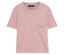 Brooks Cropped T-shirt aus Jersey mit Flammgarneffekt