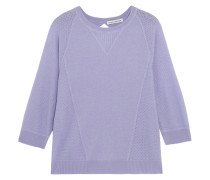 Pointelle-paneled Cashmere Sweater Lavendel