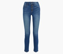 The Zig-zag Morris Faded High-rise Skinny Jeans