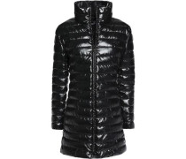 Coated quilted shell coat