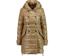 Efirane Quilted Shell Hooded Coat Sand