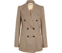 Houndstooth Double-breasted Stretch-wool Blazer Braun