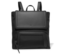 Leather And Shell Backpack Schwarz